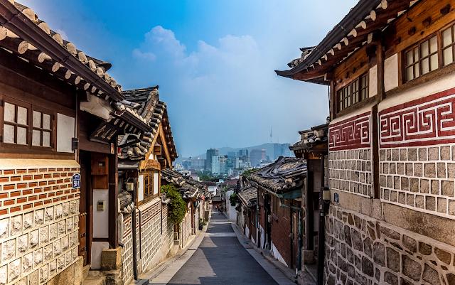 Bukchon Hanok Village Seoul Korea Selatan