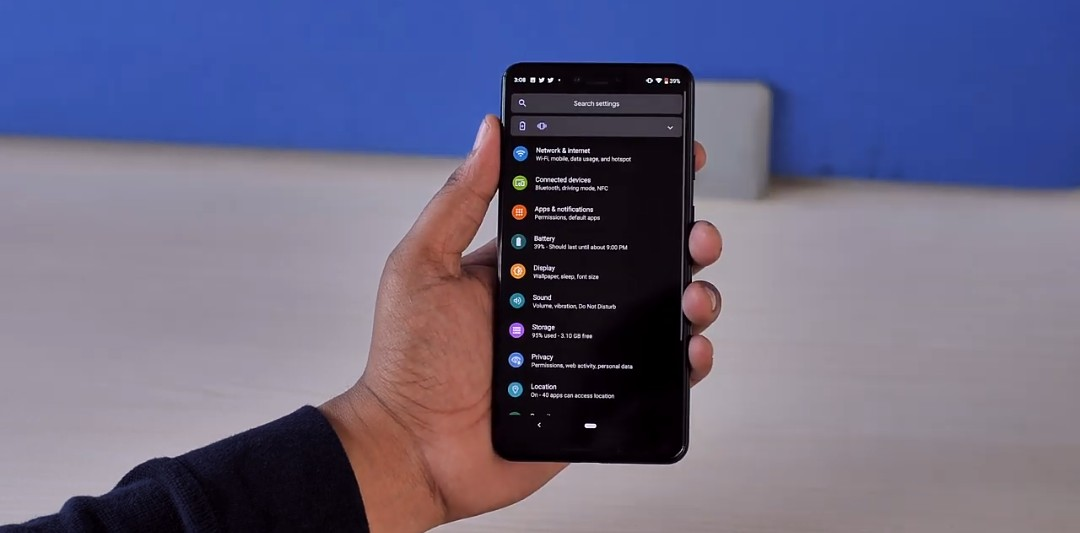 How to enable dark mode on any android Q device