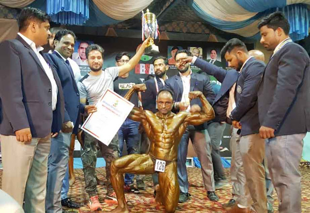 Amit Bhati has won the title of Mr. North India and Mr. Delhi, while the name of Faridabad is illuminated.