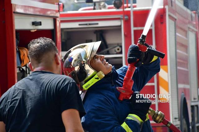 Πυρκαγιά σε οικία στο Λυγουριό κινητοποίησε δυνάμεις της Πυροσβεστικής από το Ναύπλιο