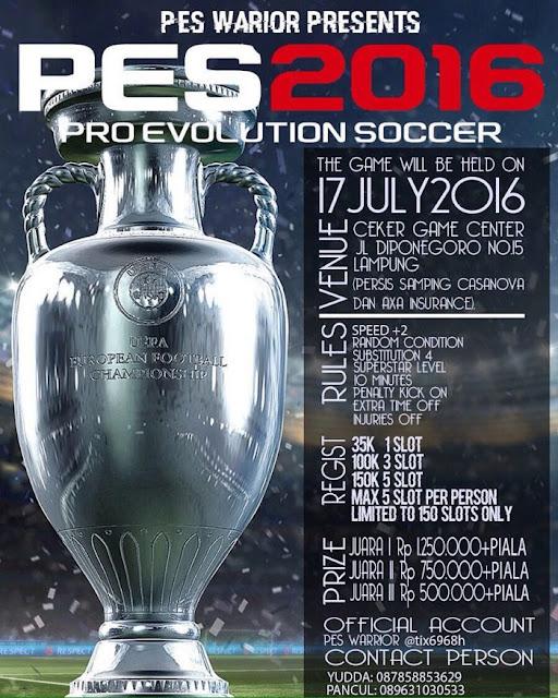 Kompetisi PES 2016 di Lampung Juli 2016