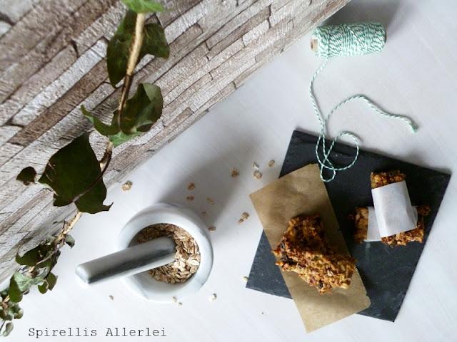 Spirellis Allerlei - Softe Fruchtmüsliriegel mit Apfel und Kernen