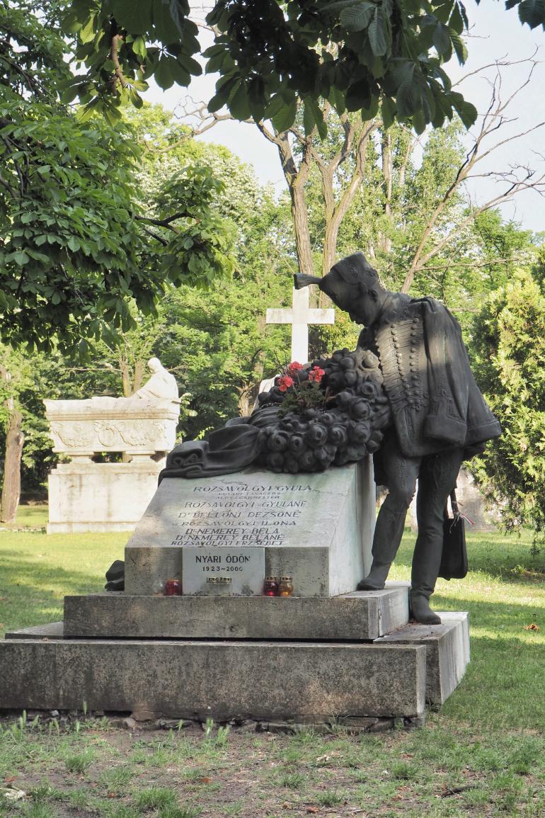 Tombe dans le cimetière Kerepesi à Budapest