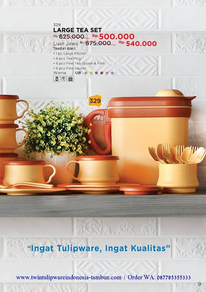 Promo Diskon Tulipware September 2017, Large Tea Set