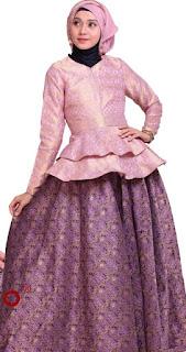 Contoh Baju Kebaya Pesta Bahan Songket Pink