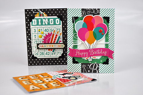 Birthday Card Set by Jen Gallacher for Echo Park Paper and Pinner's Conference. #card #birthdaycard #jengallacher #echoparkpaper