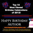 Top Ten Most Popular Author and Illustrator Birthday Celebrations of 2013