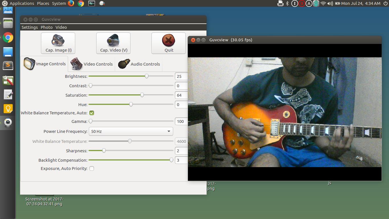 webcam setup Ubuntu
