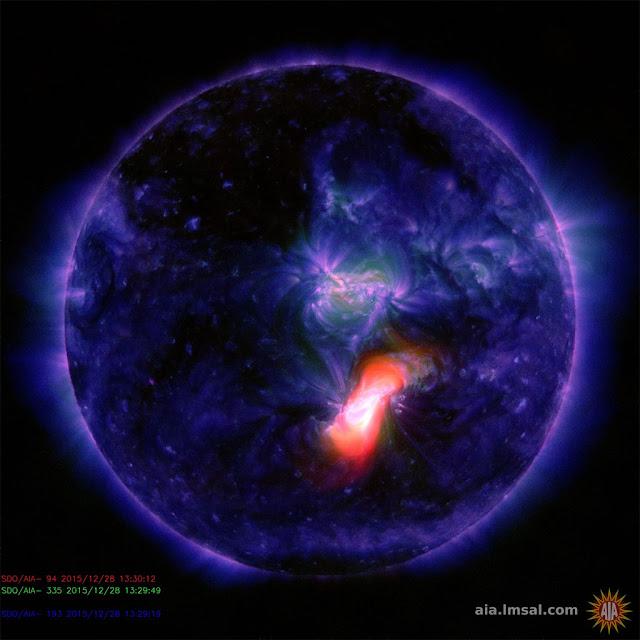 explosão solar de radiação - mancha solar AR2473