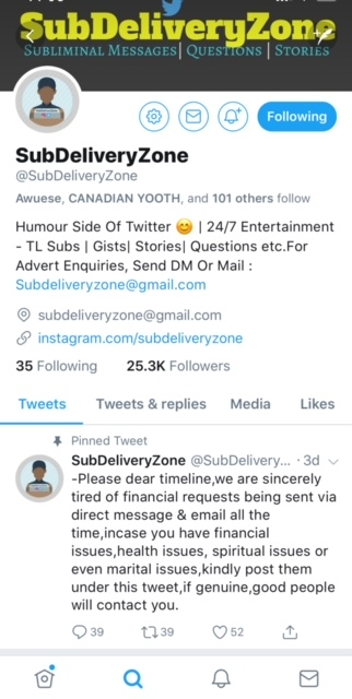 The Good and Bad of @SubsDeliveryZone on Twitter - CnaijaHub