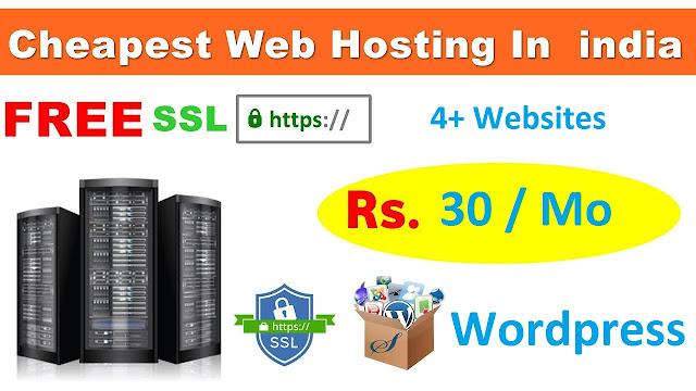Cheap web hosting India +4 Website