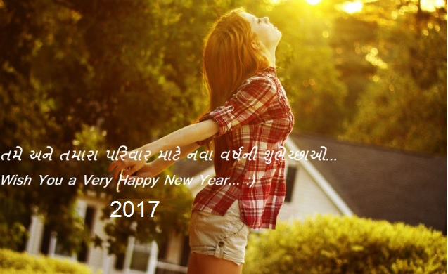 Happy New Year 2017 Wishes in Gujarati