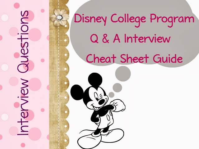 Disney College Program Interview Questions  Answers The Disney