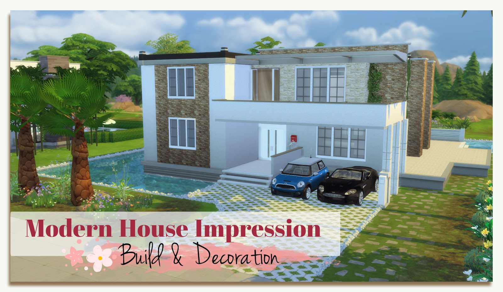 Sims 4 Building On Newcrest Modern House Impression