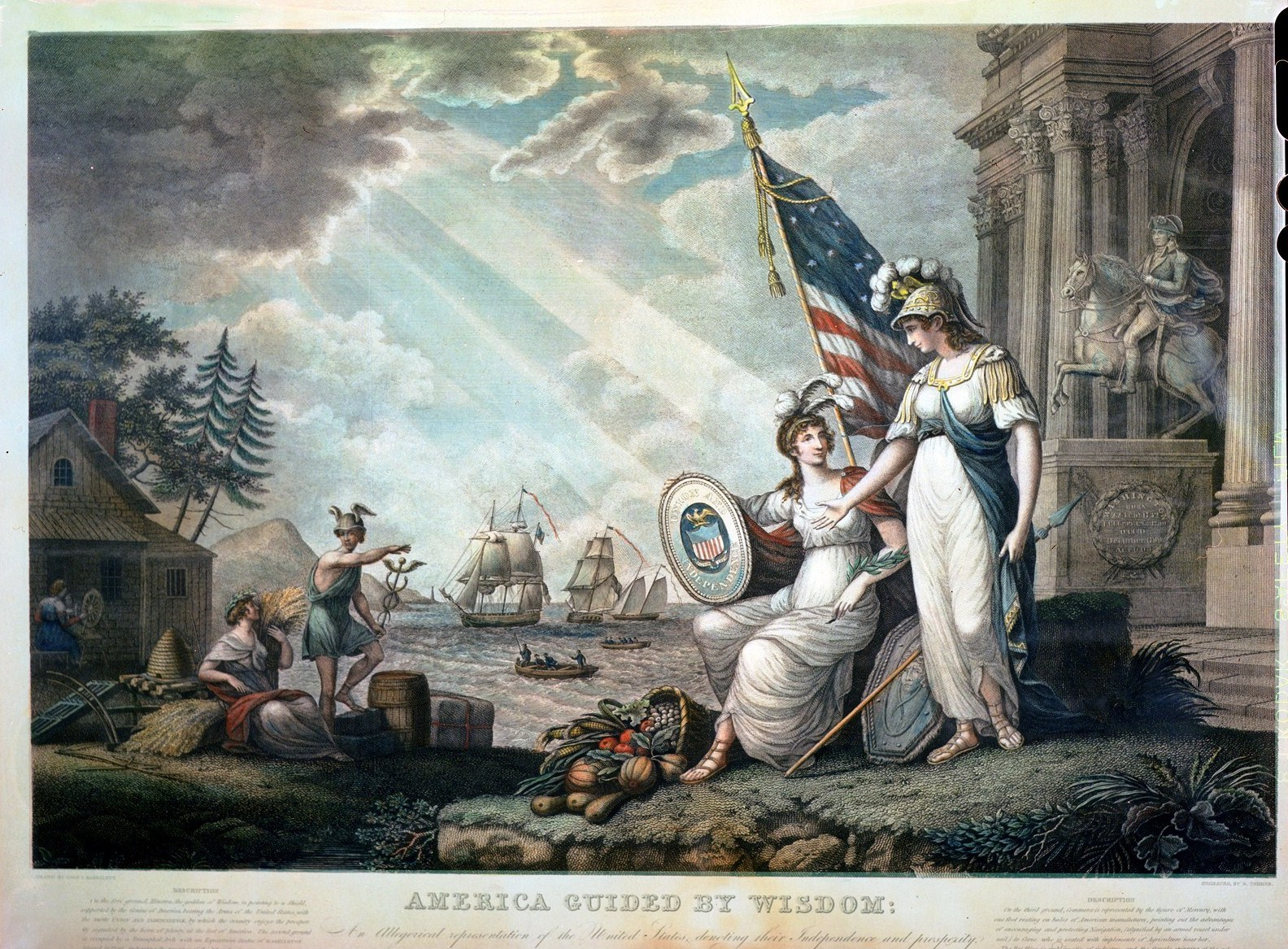 the new jacksonian blog america guided by wisdom a neoclassical  america guided by wisdom a neoclassical allegory of american exceptionalism