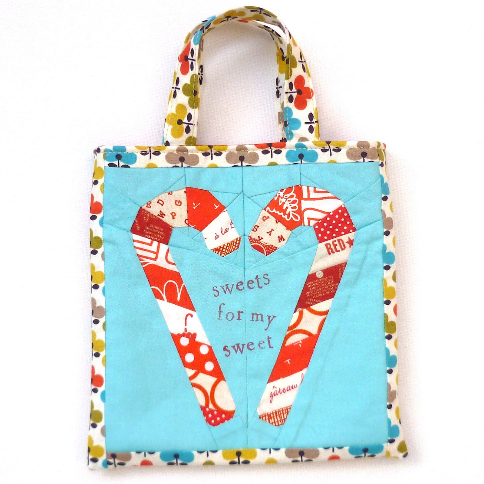 Verykerryberry Candy Cane Mini Tote Bag Tutorial