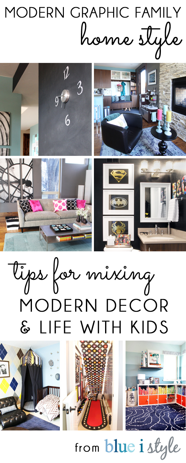 my home style} Tips for Mixing Modern Decor & Life with Kids | Blue ...