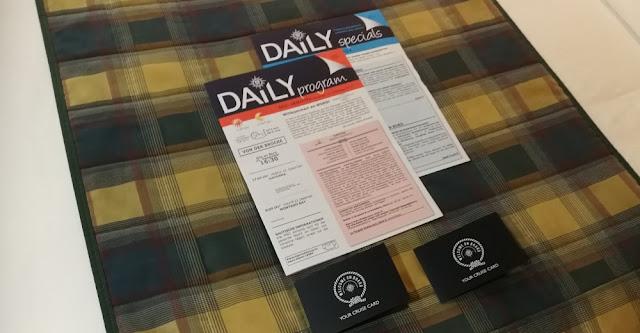 MSC Armonia - Bordkarten und Tagesprogramm