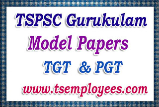 TSPSC Gurukulam Model Papers TGT PGT Previous Papers