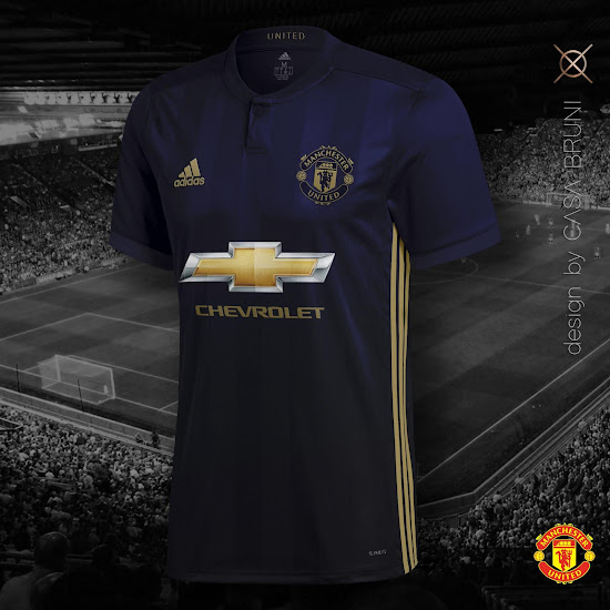 new concept 85daa 37bad Adidas Manchester United 18-19 Third Kit Concept by Casa ...
