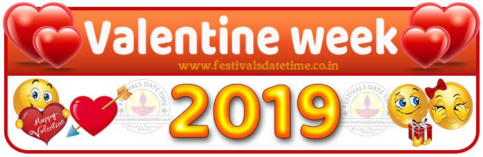 Valentine Week List Calendar, Valentine Day All Dates & Day