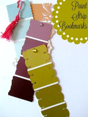 Paint Strip Craft, Paint Strip Bookmark
