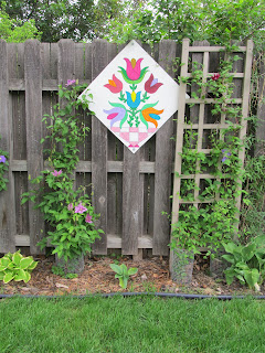 Barn Quilt Made to Go on our Fence