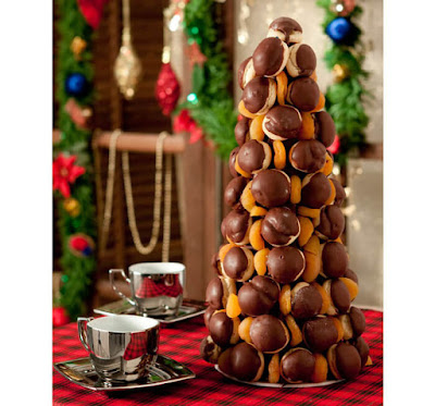 arvores de natal feita com doces