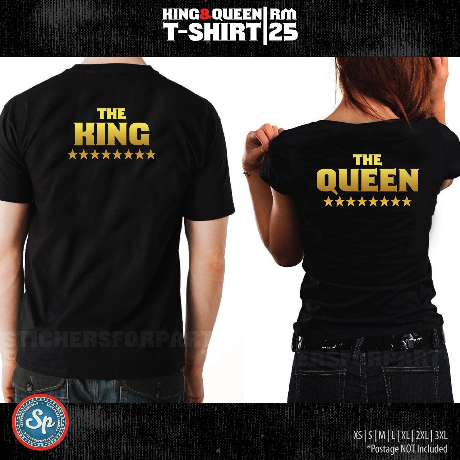 Gold vinyl king queen t shirt