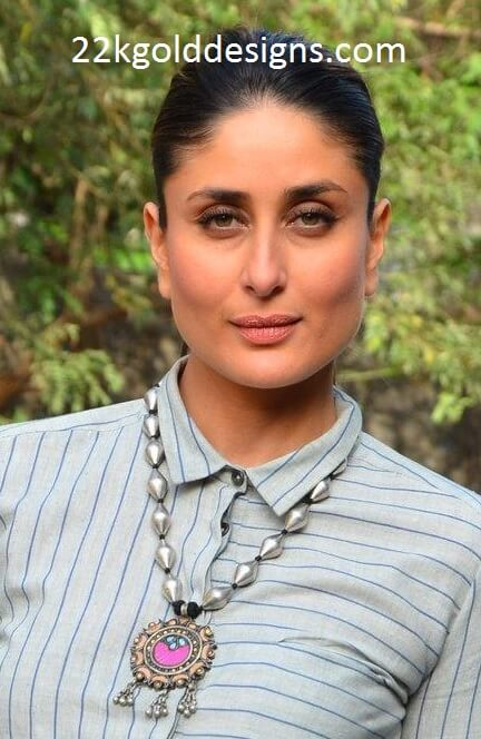 Kareena Kapoor in Amrapali Silver Necklace
