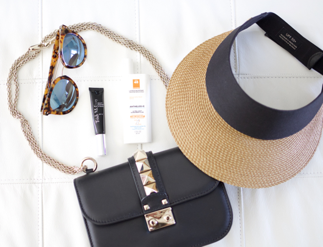sun protection essentials for face, valentino bag