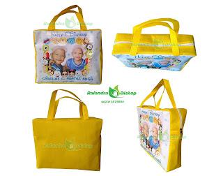 tas ultah anak murah, tas souvenir ultah murah, tas ulang tahun tsum tsum murah, tas ultah anak.