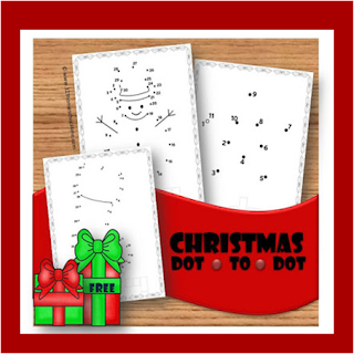 Christmas dot to dot worksheets counting practice