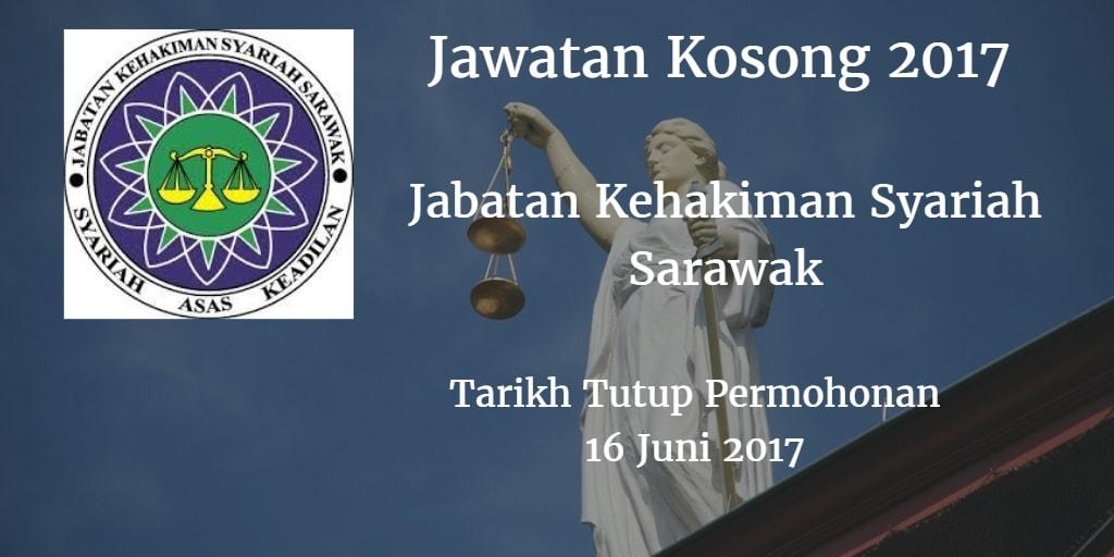 Jawatan Kosong Jabatan Kehakiman Syariah Sarawak 16 Juni 2017