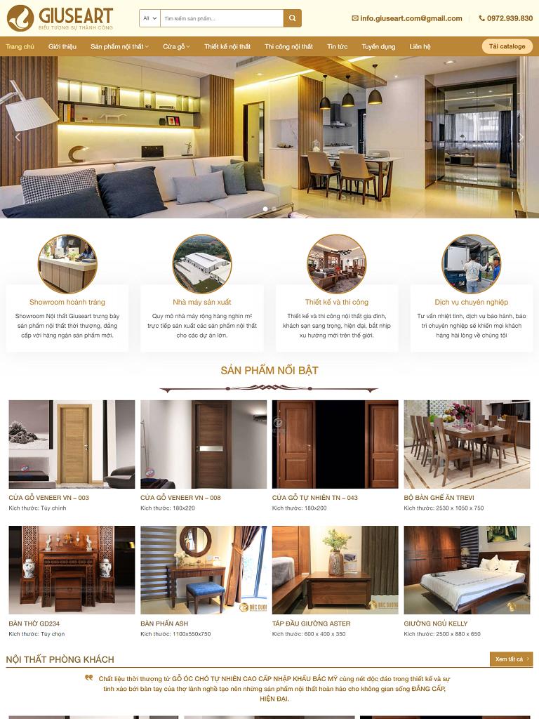 Mẫu website bán nội thất cao cấp đẹp nhất - Ảnh 1