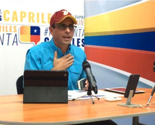 Capriles sobre el diálogo: A Maduro no le creo ni los buenos días