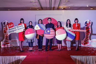 AirAsia Runway Ready Designer Search 2016 ke lima negara Asean