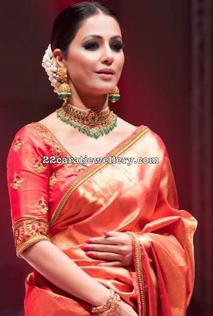 Hina Khan Heavy Kundan Choker