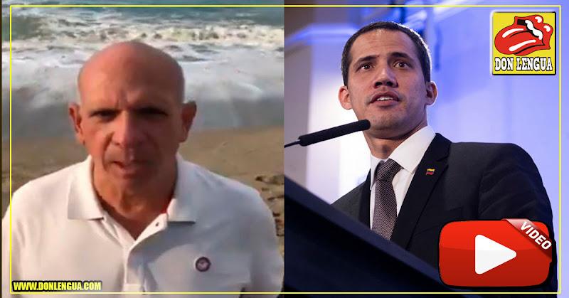 El Pollo Carvajal dándole la bienvenida al presidente Juan Guaidó