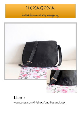 vintage satchel bag,messenger bag,sac en cuir femme,style hippie-bohème,cuir noir, black leather