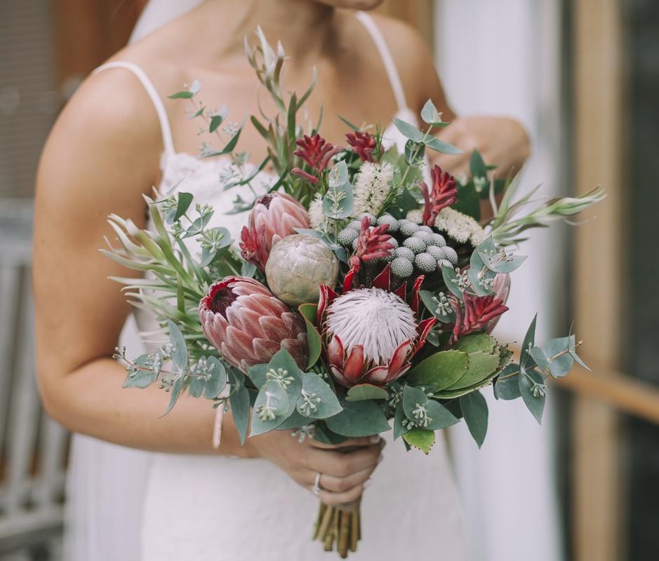 Protea Wedding Flowers: Swallows Nest Farm: April Wedding