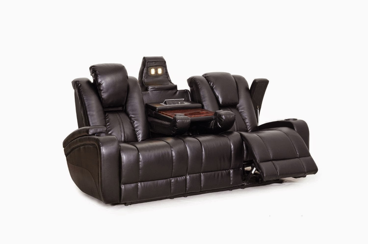 Reclining sofa loveseat and chair sets seth genuine for Leather sofa and loveseat set