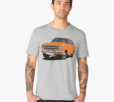 Opel Kadett B coupe t-paita oranssi