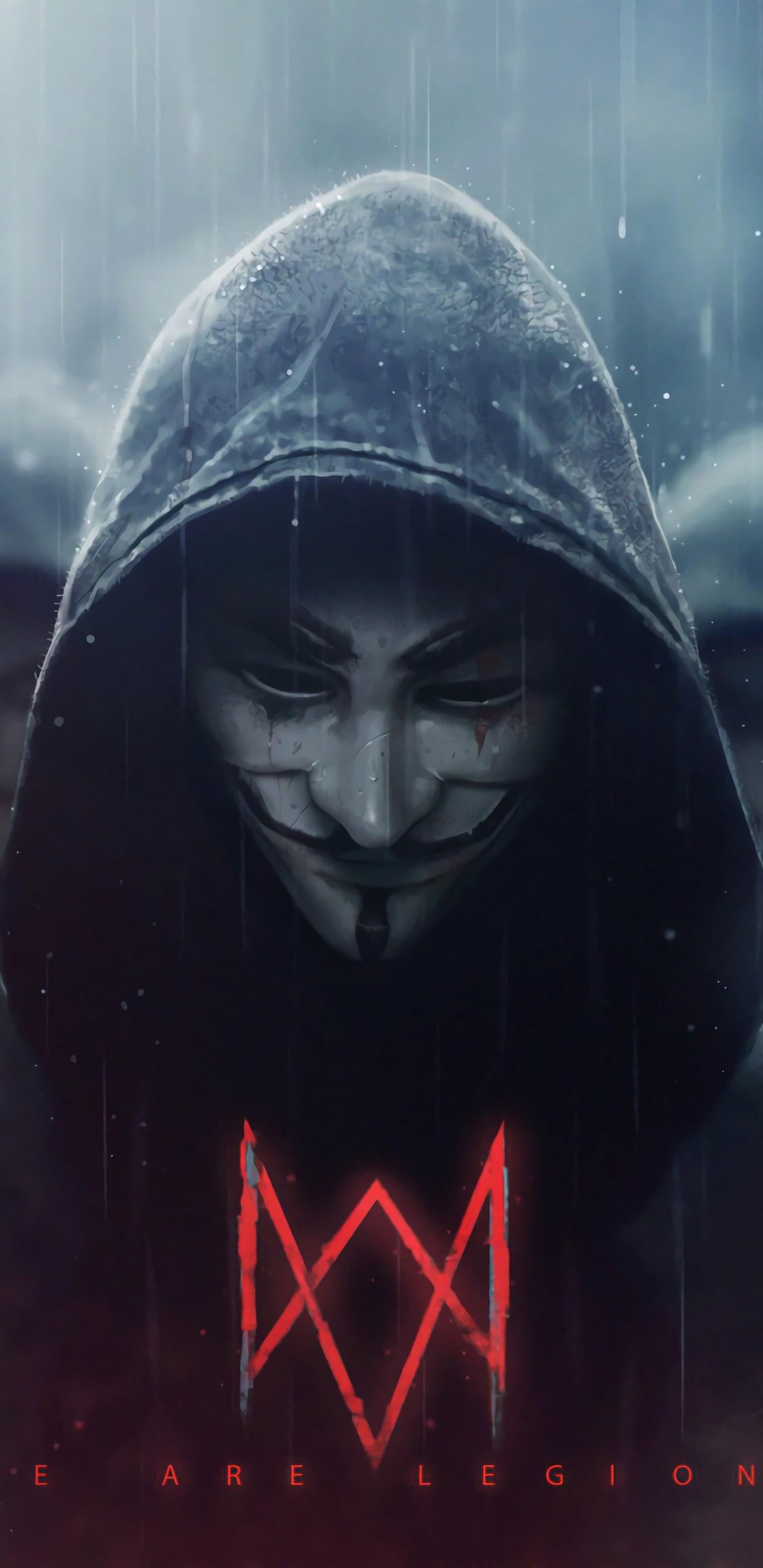 watch dogs legion logo anonymous uhdpaper.com 4K 3