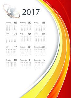 2017カレンダー無料テンプレート195