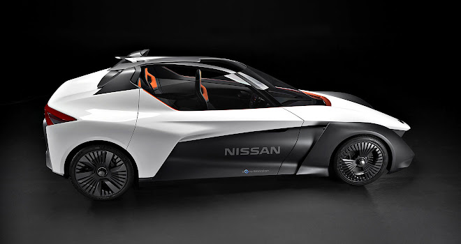 Nissan BladeGlider side view from above