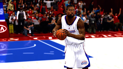 NBA 2K13 PC Mods DeAndre Jordan Face & Hair Update