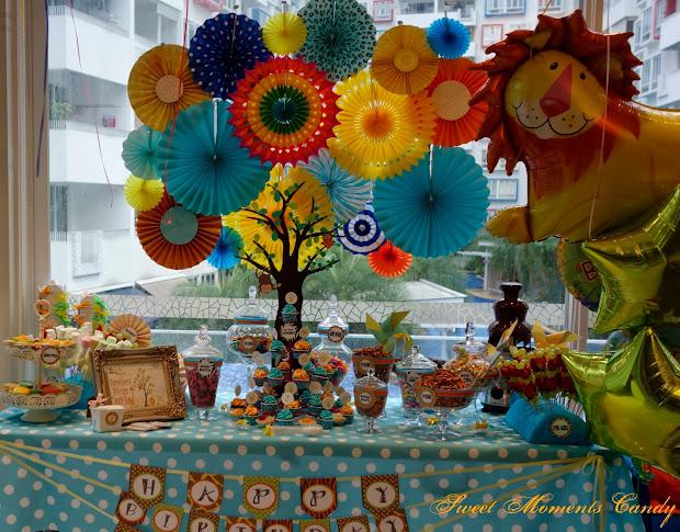 Reception Remember Safari Jungle Candy Bar Popular Theme Baby Boy' Birthday