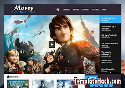 movey dark responsive blogger template