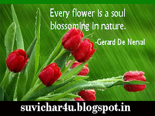 Every flower is a soul blossoming...